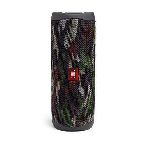 JBL Flip 5 Bluetooth Box in Camouflage – Wasserdichter, portabler Lautsprecher mit umwerfendem Sound – Bis zu 12 Stunden kabellos Musik abspielen