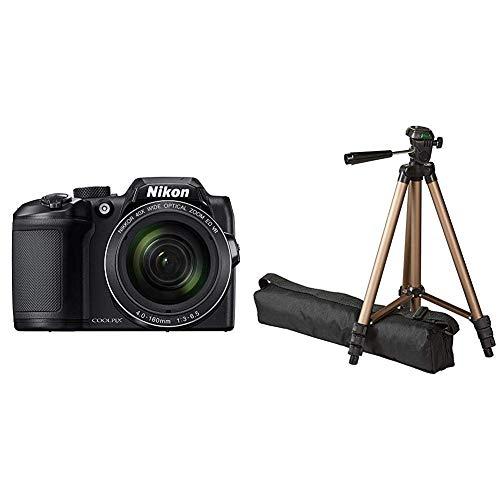 Nikon Coolpix B500 Kamera schwarz & Amazon Basics 127cm (50') Lightweight Tripod with Bag