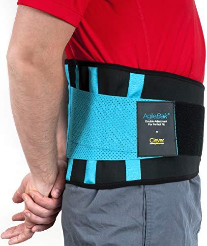 Rückenstütze, Rückengurt für den Lendenbereich, Bandage für Schmerzlinderung, Verletzungsprävention, Rückenstabilisation, perfekte Anpassung, AgileBak von Clever Yellow