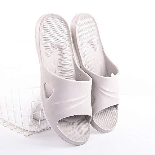 ypyrhh Ergonomische Flip-Flops Zehentrenner, super leicht, rutschfest, Deodorant-Sandalen und Hausschuhe für Paare, Badezimmer, Bad, Bad, weiche Sohle, Hausschuhe – 40–41, grau, Abfluss, schnell