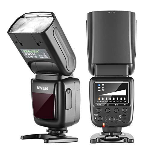Neewer NW550 Kamera Blitz Speedlite kompatibel mit Canon Nikon Panasonic Olympus Pentax Sony mit Mi-Blitzschuh und Anderen DSLRs und spiegellosen Kameras mit Standard Blitzschuh