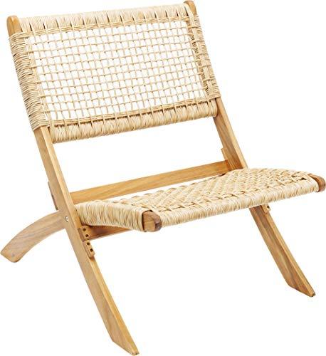 Kare Design Klappsessel Copacabana, Klapptsuhl Rattan, brauner Sessel mit Klappfunktion, modernes Rattangeflecht, Outdoorgeeigneter Klappsessel, (H/B/T) 72,5x78x60cm