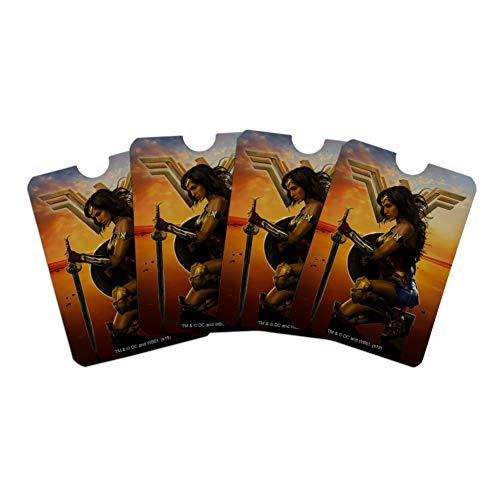 Graphics and More Wonder Woman Film-Poster, Kreditkarte, RFID-Blocker, Schutzhüllen für Geldbörse, 4er-Set