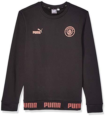 PUMA Herren Manchester City MCFC FtblCulture Sweater Pullover, Black-Georgia Peach, Medium