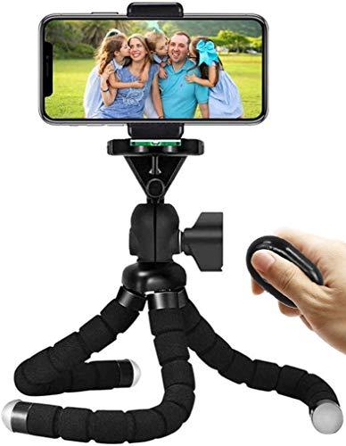 Handy Stativ, Mini Flexible Octopus Style Smartphone Reise Stativ, Handy Halter Halterung für Kamera, iPhone, Sumsung mit Bluetooth Fernsteuerung (11,02 Zoll)