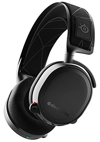SteelSeries 61505 Arctis 7 - Gaming Headset - verlustfreies und drahtloses - DTS Headphone:X v2.0 Surround - für PC, Playstation 5 und PlayStation 4 - Schwarz