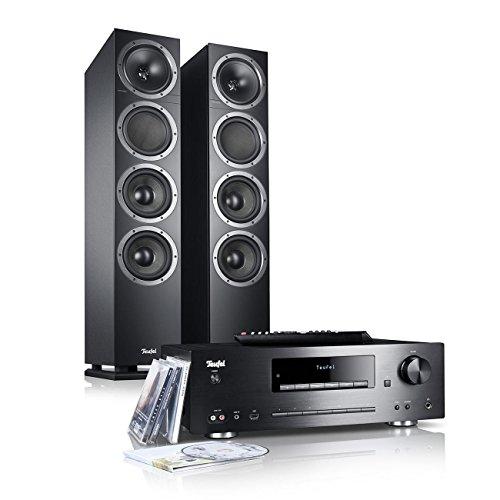 Teufel Kombo 500 Schwarz Stereo Lautsprecher Musik Sound Hochtöner Mitteltöner Bass Speaker High End HiFi Tieftöner Schalldruck Soundanlage