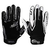 Full Force American Football Receiver Gloves Handschuhe Titanium 3 - schwarz/weiß Gr. L