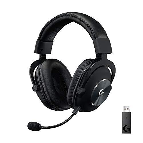 Logitech G PRO X kabelloses LIGHTSPEED Gaming-Headset, Blue VO!CE Mikrofontechnologie, 50 mm PRO-G Lautsprecher, DTS Headphone:X 2.0 Surround Sound, Memory-Foam-Polsterung, 20h Akkulaufzeit - Schwarz