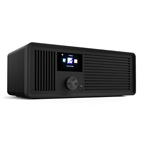 sky vision DAB 70 – Stereo DAB+ Internet-Radio (FM UKW, WLAN-fähig, mit AUX-Anschluss plus Kabel, Digital-Radio Wecker, mit Fernbedienung), schwarz