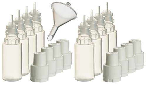 Smokerfuchs 8 Stück Liquidflaschen incl. 1x Füll-Trichter - Leerflaschen je 10 ml zum befüllen und mischen von Liquids je 10 ml