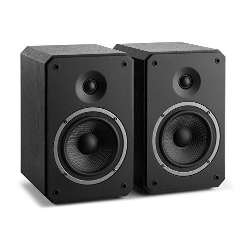 NUMAN Octavox 702 MKII - Regal-Lautsprecher, Lautsprecher-Boxen, HiFi-Boxen, high-end Boxen, 2-Wege-Lautsprechersystem, 100 Watt max, Bassreflex, abnehmbare Lautsprecherabdeckung, schwarz