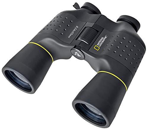National Geographic Zoom Fernglas 8-24x50 mit Mitteltriebfokussierung und robuster Gummiarmierung inklusive Stativanschluss, Trageriemen und Transporttasche