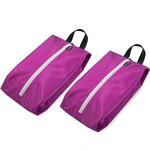 Stansøn ® Leichte Schuhtasche (2er-Set)   Premium XL Schuhbeutel, Schuhsack, Shoe-Bag für Reise & Sport (Pink)