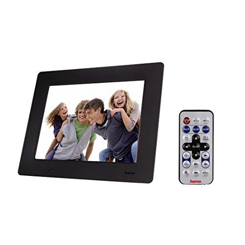 Hama 95228 Slimline Premium Digitaler Bilderrahmen (20,3 cm (8 Zoll), SD/SDHC/MMC-Kartenslot, mini-USB 2.0) schwarz