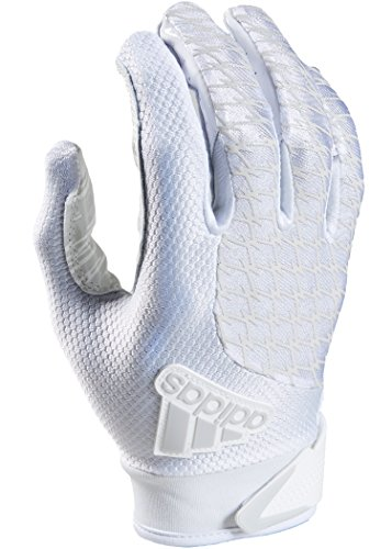 adidas Youth AdiFast 2.0 Receiver's Gloves, White/White, Small