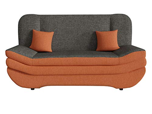 Mirjan24 Sofa Weronika mit Bettkasten und Schlaffunktion, Schlafsofa, Große Farb- und Materialauswahl, Couch vom Hersteller, Wohnlandschaft (Lux 10 + Lux 06 + Lux 10.)