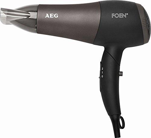 Ionen-Haartrockner mit Diffuser und Formdüse klappbar Fön Haarfön Haar Föhn Haarföhn Harfön Haken (leistungsstarke 2200 Watt + schwarz/anthrazit)