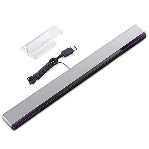 KIMILAR Wii Sensorleiste Ersatz Infrarot-LED-Sensor Bar für Nintendo Wii & Wii U, verkabelt enthält klare Haltung [video game] für Wii-Konsolen-Controller