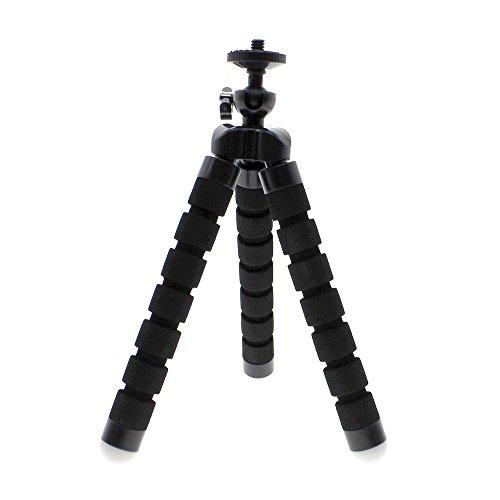 Krake-Art-starke und flexible Stativ-Halterung für Handy-Kamera mit Schwamm Abdeckung Stand - Schwarz