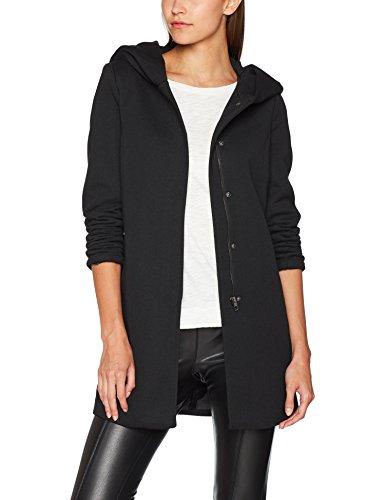 ONLY Damen onlSEDONA Light Coat OTW NOOS Mantel, Schwarz (Black Black), 38 (Herstellergröße: M)