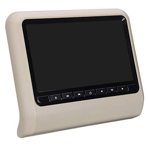 strimusimak Auto Kopfstütze DVD-Player Monitor Rückenlehne Video LCD-Display Fernbedienung 9 Zoll Für Fahrzeuge, Die Entspannt Fahren Beige
