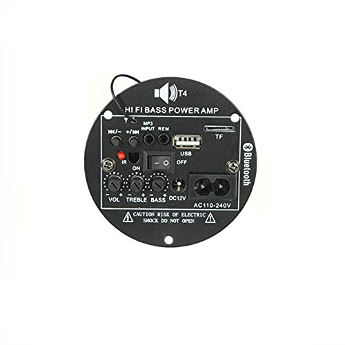 Wnuanjun 1Set 30W Bluetooth-Verstärker-Audio-Board 12V 220V Subwoofer-Verstärker-Auto-AMP-Unterstützung TF USB FM für 5-10inch Bass Speake DIY