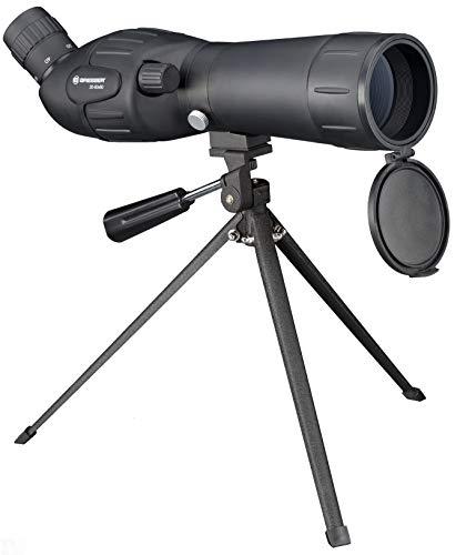 Bresser Junior Spektiv Spotty 20-60x60 mit stufenloser Zoomfunktion, 360° drehbarem Tubus, voll vergüteter Optik mit robuster Gummiarmierung inklusive Tischstativ, Transporttasche und Trageriemen