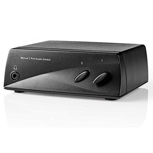 TronicXL Analog Umschalter Analoger Audio-Schalter 2X Cinch RCA Stereo Eingang 1x Cinch Ausgang + Kopfhörer Ausgang Klinke Buchse Kupplung AUX