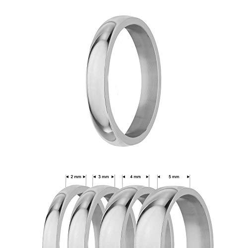 Treuheld®   Ring aus Edelstahl   Silber   Ringgröße 60   Breite 3mm   Damen & Herren   glänzend   Freundschaftsring Verlobungsring Ehering