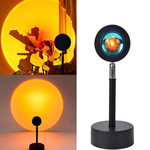 Sunset Lamp, Sunset Projection Lamp,Sonnenuntergang lampe,LED Atmosphäre Licht mit USB,180 ° Drehung Romantische Visuelle Stimmungslampe,Projektor Lichter (Sonnenuntergang)