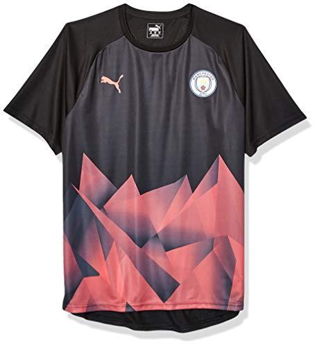 PUMA Herren Manchester City MCFC Stadium INT Jersey T-Shirt, Black-Georgia Peach, X-Large