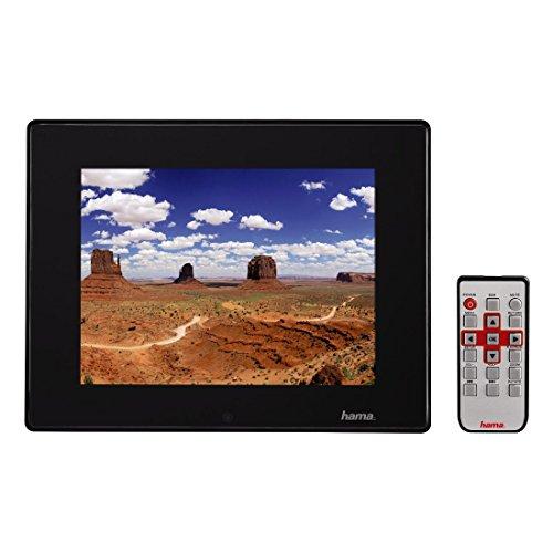 Hama Digitaler Slimline Premium Acryl Bilderrahmen (30,7 cm (12,1 Zoll), SD/SDHC/MMC-Kartenslot, USB 2.0, Mit Fernbedienung) schwarz
