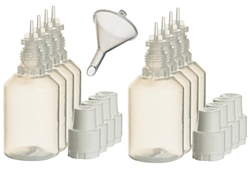 8 Stück 30ml Liquidflaschen incl. 1x Füll-Trichter - SmokerFuchs® - plastikflasche tropfflasche liquid-flasche quetschflasche Leerflaschen je 30 ml zum befüllen und mischen