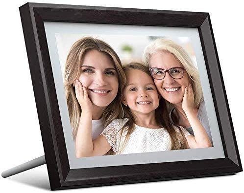 Digitaler Bilderrahmen, Dragon Touch 10.1 Zoll HD Elektronischer Bilderrahme Android 8.1 OS 1280 * 800 IPS Display 16GB Speicherung WiFi mit der Funktion Foto/Video/Kalender/Wecker/Wetter