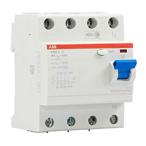 ABB Fi-Schutzschalter 2CSF204101R1400, 4-polig, F204A-40/0,03