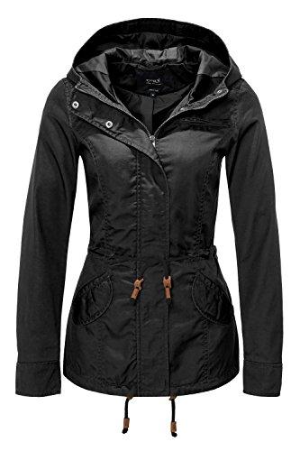 ONLY Damen Jacke Onllorca Spring Parka Jacket CC Otw, Schwarz (Black), Gr. L