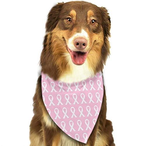 Gxdchfj Breast Cancer Awareness Pink Ribbon Pattern Fashion Dog Bandana Bibs Scarfs Pet Scarfs Cats Dog Scarf