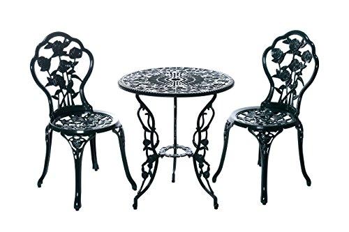 Sarah B Tisch Set 15240C1547 stabiles Gartenmöbel Set Balkonset Bistroset Aluminium Guss