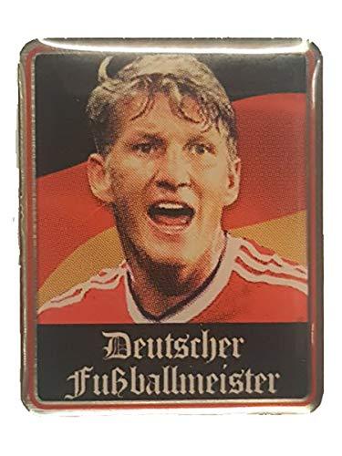 Manchester United FC Bastian Schweinsteiger 'Deutscher Fußballmeister' Abzeichen – MUFC Man United Football Club Souvenir Geschenk