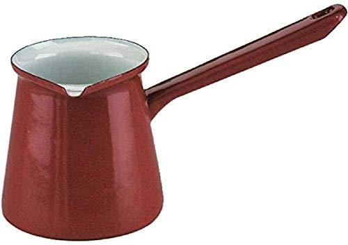 Ibili Kaffeekanne Roja türkischer Stil 0,5 l aus emailliertem Stahl in rot, 10 x 20 x 10 cm