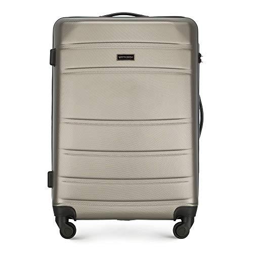 WITTCHEN Koffer – Mittelgroßer   hartschalen, Material: ABS   hochwertiger und Stabiler   Champagner   54x46x37 cm