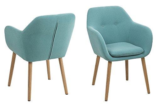 AC Design Furniture Stuhl Wendy, B: 57 x T:59 x H: 83 cm, Metall, Blau