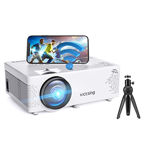 Mini Beamer, VicTsing WiFi Beamer Full HD mit Bluetooth, 4500 Lumen 1080P, Handy Projektor, kompatibel mit iPhone / Android / iPad / Mac / Laptop / PC【2021 Neu】