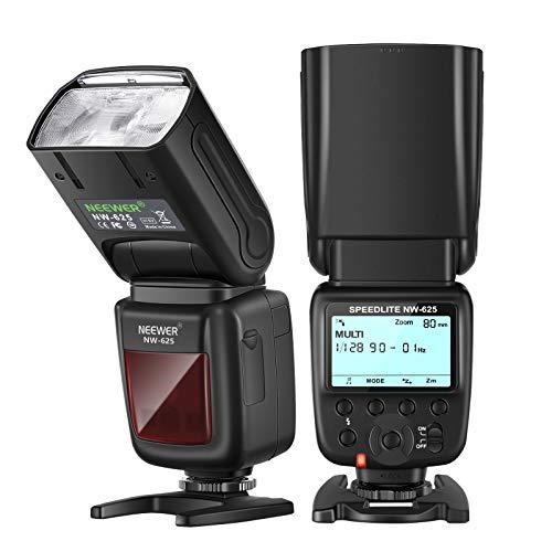Neewer NW 625 GN54 Speedlite Blitz für Nikon Panasonic Olympus Pentax Fujifilm DSLR Mirrorless Kameras und Sony mit Mi-Blitzschuh wie a9 a7 a7RII a7SII a6000 a6300 a6500