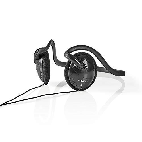TronicXL Design Kopfhörer Nackenbügel Neckband Stereo Kopfbügel Headphones 3,5mm Klinke für Smartphone iPhone Handy (Kabel Neckbank)
