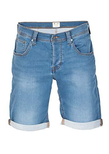 MUSTANG Herren Jeans Shorts Chicago Real X Kurze Hose Sommer Bermuda Stretch Sweathose Baumwolle Grau Blau w30 - w42, Größe:W 36, Farbe:Light Blue (312)