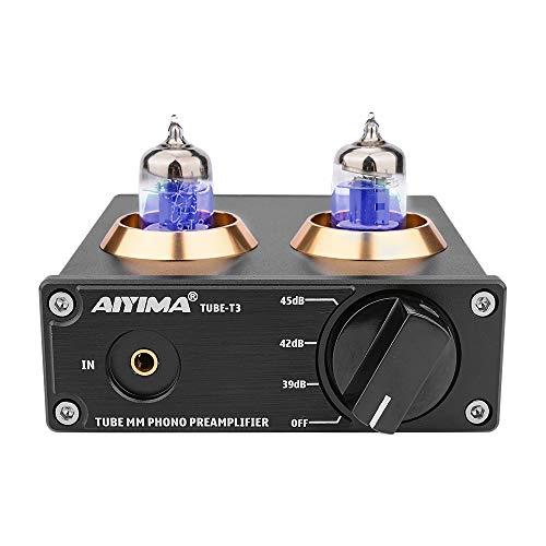 AIYIMA T3 Röhren HiFi MM Phono Vorverstärker für Plattenspieler-Vorverstärker mit Gain-Stereo-Audio für Phono-Audiophile