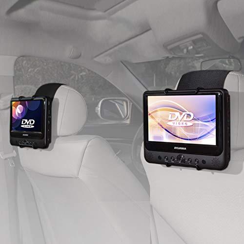 TFY Hülle-Halterung für Auto-Kopfstütze SYLVANIA SDVD9805 Tragbarer DVD-Player (passend auch für Alle 17.78 cm - 25.40 cm tragbare Swivel Display Portable DVD-Player)