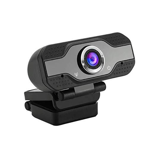 1080p HD Webcam Plug-and-Play USB-Kamera mit Mikrofon für PC. Abdeckung und Stativ werden hinzugefügt. Voip Youtube Gerät. Plug-and-Play-Webcam für Videoanrufe, Lernen, Besprechungen (schwarz)
